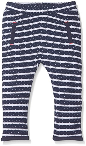 s.Oliver Baby-Mädchen Hose, Blau (Tiefseeblau Stripes 58G9), 86