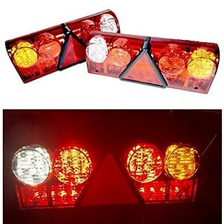 Universelle LED-Rücklichter für Anhänger, Wohnwagen, Trucks und LKWs, 12 V, 24 V, 2 Stück