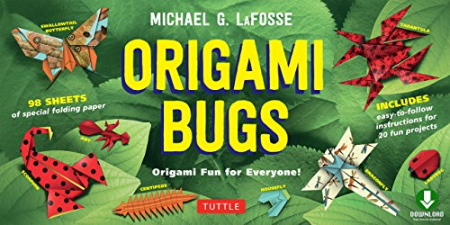 Origami Bugs Ebook: Origami Fun for Everyone! This Easy Origami Book Contains 20 Fun Projects, Origami How-to Instructions and Downloadable Content (English Edition)