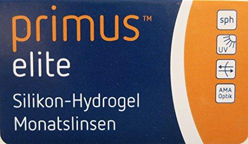 Primus Elite Silikon-Hydrogel Monatskontaktlinse 6 Stück 8.60/-01.25