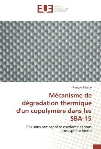 Mecanisme de degradation thermique d'un copolymere dans les SBA-15: Cas sous atmosphère oxydante et sous atmosphère inerte par François Bérubé
