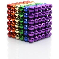 Imanes relajantes 5mm Pequeñas bolas de metal Cube Escritorio Juguete de descompresión para el tiempo libre Viajes Entretenimiento Estrés Alivio y desarrollo de inteligencia para niños