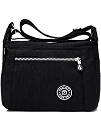 MeCooler Bolso Bandolera Mujer Bolsos Baratos de Moda Bolsos Grandes Impermeable Vintage Bolsas de Viaje para Escolares Messenger Bag Sport Tablet Nylon