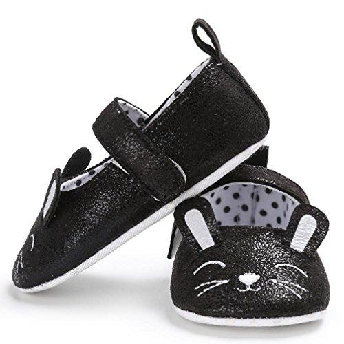 Igemy 1 Paar Kleinkind Baby Wave Point Neugeborene Niedlich Katze Muster Kinder Soft Sohle Schuhe Schwarz