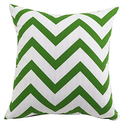 Fodera per cuscino quadrato/rettangolo Wavy Moire ChezMax cotone Throw Pillow Case Sham Slipover Pillowslip Federa per la casa divano letto sedia sedile posteriore, Green, 20*20''WITHOUT FILLER