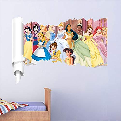 Ufengke Pegatinas De Pared Princesa Vinilos Adhesivos Pared 3D para Dormitorio Habitación Infantiles...