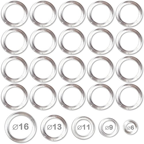 Anneaux plastiques transparents pour confection et bricolage diamètre 6mm - lot de 50