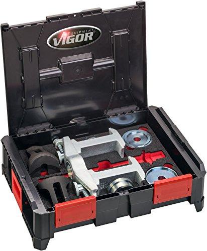 Vigor Kit d'outils de universel pour montage démontage Compact Roulement de Roue et Nombre outils : 15, 1 pièce, v4680