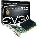EVGA 01G-P3-1313-KR Passive GeForce GT 210 Grafikkarte (PCI-e, 520MHz, 64Bit, 1,2GHz, 1GB, GDDR3, VGA, DVI, HDMI, 1 GPU)