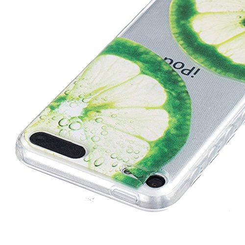 Ooboom® iPhone 8 Plus/iPhone 7 Plus Coque TPU Silicone Gel Housse Étui Cover Case Pare-chocs Souple Anti-glisse Ultra Mince pour iPhone 8 Plus/iPhone 7 Plus - Fleur de Pêche Citron