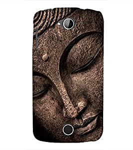 FUSON Buddha Statue Face 3D Hard Polycarbonate Designer Back Case Cover for Acer Liquid Z530 :: Acer Liquid Zade Z530S