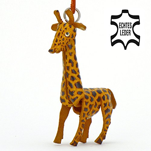 Giraffe Sophie - Afrika Schlüsselanhänger Figur aus Leder in der Kategorie Kuscheltier /...