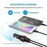 Anker Car Charger 24W / 4.8A Dual USB Car Adapter Travel Car Charger PowerDrive 2 for iPhone 7/ 6 / 6 Plus/ 6s / 6s Plus, iPad Pro / Air 2 / mini 3, Samsung Galaxy Note 5/4, S Series & Edge Models; LG G4 / G5; Google Nexus 5X 6P; and Other iOS and Android Devices (Black) Bild 3