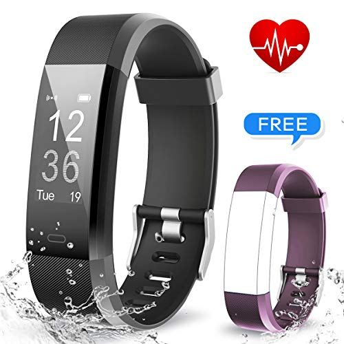 MUZILI USB Quick Charge Activity Tracker Smart Fitness Band with Heart Rate Monitor, Sleep Monitor Activity Band, Fitness Tracker and 14 Exercise Modes for Android and iOS Smart Phones