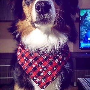 HAHAJY Pet Chien Cou Écharpe De Noël Flocon De Neige Cravate Réglable Cravate Cravate Col Cou Foulard Accessoires Toilettage