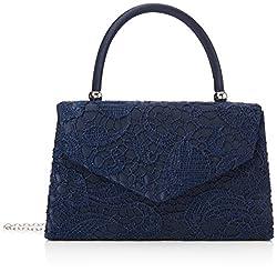 Swanky Swans Damen Jena Clutch, Blau (Navy Blue), 6.5x16x24 cm