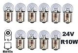 24 Volt - 10 Stück - R 10W - BA15S - 10Watt - Nfz LKW Beleuchtung - Glühlampe, Glaslampe, Glühbirne, Soffitte, Lampen. Mit E-Prüfzeichen und ist für den Straßenverkehr zugelassen. INION®