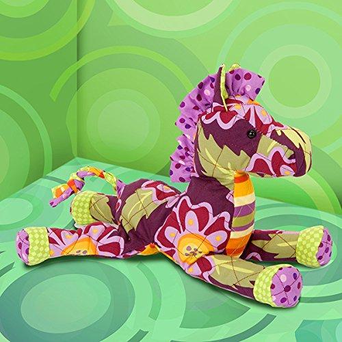 """Cuddle Toys - Hochwertig verarbeitetes Stofftier """" SMILE HORSE """" - Stoff - Pferd zum Kuscheln - hochwertiges Marken - Stoffltier - der neue stylische Freund zum Liebhaben nicht nur für Kinder - lila"""