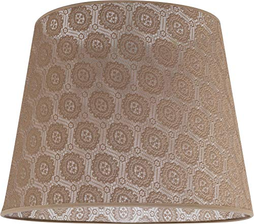 Lampenschirm groß aus gehäkelter Spitze Ø38cm für Stehlampe E27 Stoff Schirm Stehleuchte -