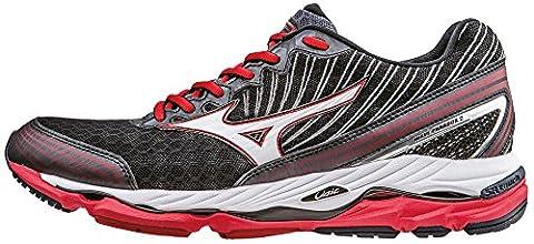Mizuno Wave Paradox 2, Chaussures de Running Compétition homme - Noir - Black (Black/White/Chinese Red) - 43 EU (9 UK)