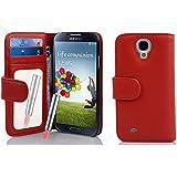 Cadorabo - Book Style Hülle für Samsung Galaxy S4 (GT-i9500 / GT-i9505 LTE) - Case Cover Schutzhülle Etui mit Spiegel und Kartenfächern in CAYENNE-ROT