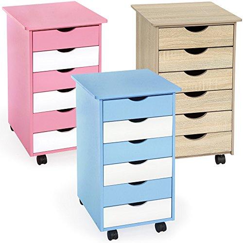 TecTake-Rollcontainer-mit-6-Schubladen-diverse-Farben