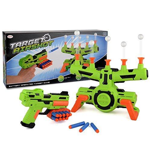 Unbekannt Schwimmendes Ziel, Airshot-Spiel, für Kinder, Pistole mit Schaumstoff-Pfeilen