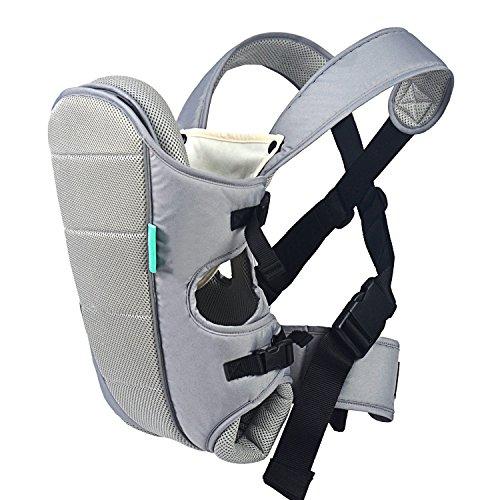 HarnnHalo - Porte-bébés ventraux & dorsaux, Baby carrier Multifonctionnel avec 3 Positions pour enfant(3-12 mois) M0902 Gris HarnnHalo