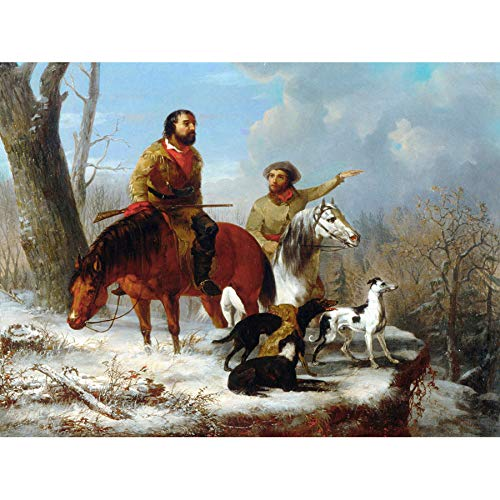 Doppelganger33 LTD Painting Landscape Historic Trego Trappers Large Replica Large Canvas Art Print Poster Wall Decor 18x24 inch Malerei Landschaft Wand Deko - Canvas Trapper