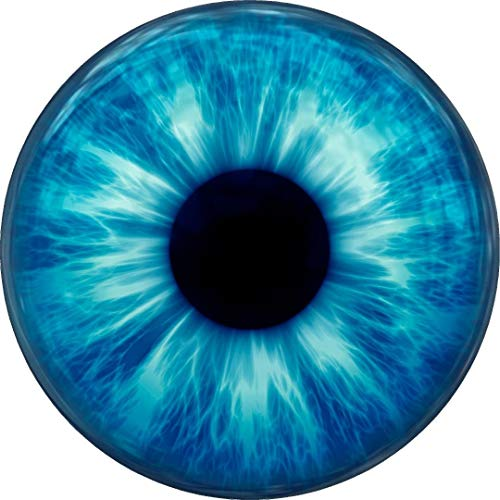 Tiukiu Blue Iris Eye Circle Wall Decal Sticker Removable Vinyl Wall Dot Circle Print Eyes 12 Inch In Width (Prints Blue Camper)