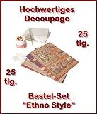 BRICO Decoupage Bastel-Set Ethno Style Kreativset