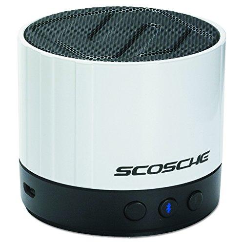 Scosche BTSPK3W boomSTREAM Mini wireless Lautsprecher (3,5mm Klinke, v2.1 Bluetooth) weiß
