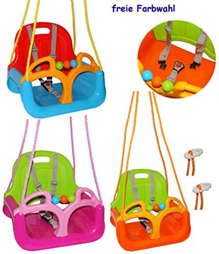 Gitterschaukel / Babyschaukel - mitwachsend & umbaubar - mit Gurt - ' ROSA / PINK ' - leichter Einstieg ! - belastbar 100 kg -...