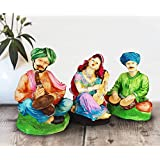 Tied Ribbons Resin Rajasthani Couple Showpiece (13.01 cm x 13.01 cm x 24.99 cm, TR-RajasthaniStatues003), Multicolor