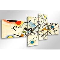 Cuadro moderno Kandinsky Composición VIII, 160x 70 cm, impresión sobre lienzo, decoración de arte abstracto