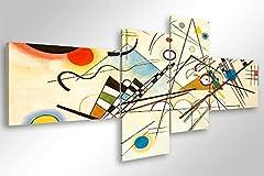 Idea Regalo - Quadro Moderno KANDINSKY COMPOSIZIONE VIII - cm 160x70 Stampa su Tela Canvas Arredamento Arte Arredo Astratto Design