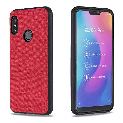 Lotuslnn para Xiaomi Mi A2 Lite/Xiaomi Redmi 6 Pro Tela Silicona Funda Protection Anti-Choque Tela Suave TPU Ultra-Delgado Caja del teléfono móvil Caso para Xiaomi Mi A2 Lite/Xiaomi Redmi 6 Pro-Rojo