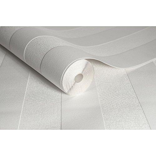Superfresco Strukturtapete, gestreift, Weiß