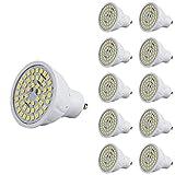 10 Stück 220V GU10 LED Birne 2W Glühbirne Nicht dimmbar Warmweiß 2700K 48 SMD 2835 430 lm 500 lm