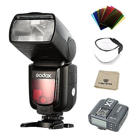 Godox TT685N TTL HSS 1/8000s GN60 2.4G Wireless Blitz Blitzlicht Blitzgeräte Speedlite + X1T-N Transmitter für Nikon Nikon DSLR Camera D800 D700 D7100 D7000 D5200 D5100 D5000 D300 D300S D3200 D3100 D3000 D200 D70S D810 D610 D90 (TT685N+X1T-N)