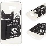 Pour Samsung Galaxy A3 (2016) / A3 (2016) Duos (4.7 Pouces)(Non Compatible Avec Samsung Galaxy A3 2015) Coque ZeWoo® Étui en Silicone TPU Housse Protecteur - YG012 / World Domination For Cats