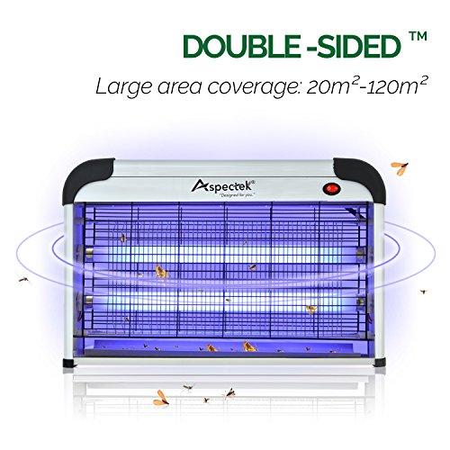 Aspectek (UK plug) Lampara Mata Insectos Electrico- Matamoscas,polillas, sancudos, 30W UV Bombillas para su Hogar y Uso comercial