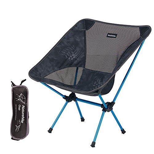 Naturehike Outdoor tragbare Klappstühle für Camping Angeln Picknick Strand mit Tragetasche, blau (Picknick Strand-klappstuhl)