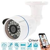 OWSOO HD 1080p IP Caméra Bullet Mégapixels Cloud CCTV Surveillance Réseau Extérieur Intérieur support P2P Application Android/iOS Onvif étanche IR-CUT Filtre Nuit Vue Navigateur Vue 24 LED Infrarouge