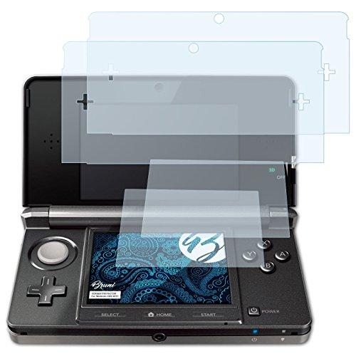 Bruni Schutzfolie für Nintendo 3DS (2011) Folie - 2er Set glasklare Displayschutzfolie