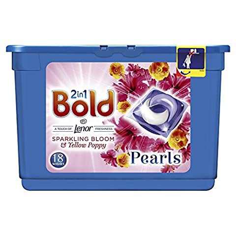 Bold 2in1 Washing Tablets Bloom & Yellow Poppy 36 Washes(2 x 18 pack)
