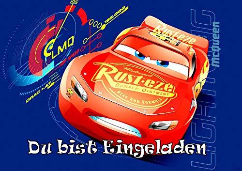 VSW Disney's Pixar Cars Einladungskarten 12er Set inkl. 12 Umschläge M1