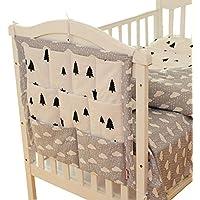 Vine Baby Betttasche für Baby Bett - mit gestickter Applikation, Utensilio, Wandaufbewahrung, Aufbewahrung fürs Kinderbett