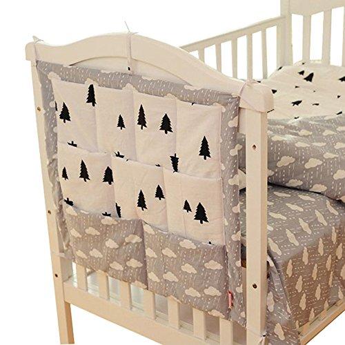 GudeHome Baumwolle mehrschichtige Beutel Aufbewahrungsbeutel Multifunktions Bett hängen Babywindeln Veranstalter 55 * 60cm (Standard-bett In Einem Beutel)