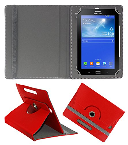 ACM ROTATING 360° LEATHER FLIP CASE FOR SAMSUNG GALAXY TAB 3 T111 NEO TABLET TABLET STAND COVER HOLDER RED  available at amazon for Rs.149